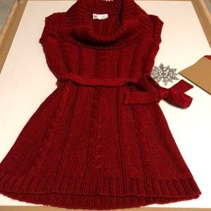 Knit Avenue Red Sweater Dress Size Medium